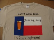 Don't Mess With Texas Craft Beer T-Shirts